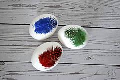 Dekorácie - Kraslica Veselá perlička (Zelená) - 11636576_