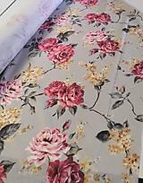 Textil - Ruže na mätovo zelenej š.140cm - 11636962_