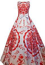 """Šaty - FLORAL FOLK """" Slovenská ornamentika """", spoločenské dlhé šaty - 11638425_"""