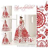 """Šaty - FLORAL FOLK """" Slovenská ornamentika """", spoločenské dlhé šaty - 11638456_"""