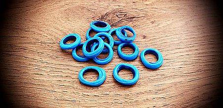 Korálky - Korálka sklenená krúžok (Modrá) - 11637470_