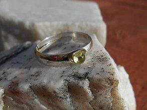 Prstene - ring with olivin II - 11639482_
