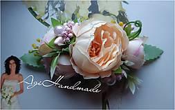 Ozdoby do vlasov - kvetinková francúzska spona - 11639889_