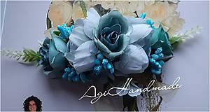 Ozdoby do vlasov - kvetinková francúzska spona - 11639920_