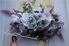 Ozdoby do vlasov - kvetinková francúzska spona - 11639948_