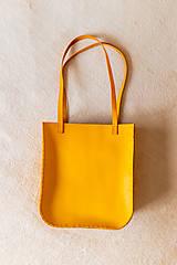 Veľké tašky - Ručne šitá kožená kabelka Sunny - 11639517_