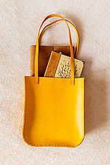 Veľké tašky - Ručne šitá kožená kabelka Sunny - 11639518_