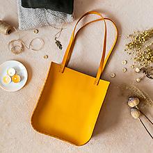 Veľké tašky - Ručne šitá kožená kabelka Sunny  - 11639509_