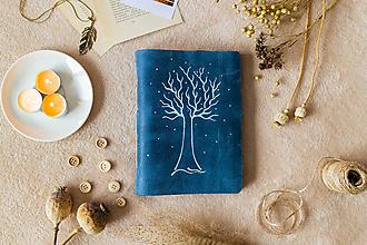Papiernictvo - Zápisník kožený s kresbou stromu - kožený fotoalbum A5 - 11639590_