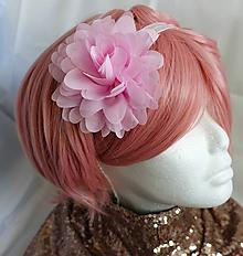 Detské doplnky - Kvetinová šifónová dievčenská čelenka - 11638377_