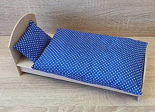 Hračky - Modré bodkované perinky pre Barbie - 11639685_