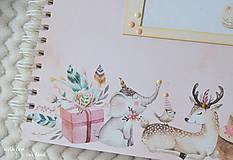 Papiernictvo - Detský fotoalbum - pre dievčatko (so zvieratkami) - 11637809_