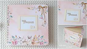 Papiernictvo - Detský fotoalbum - pre dievčatko (so zvieratkami) - 11637813_