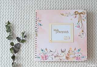 Papiernictvo - Detský fotoalbum - pre dievčatko (so zvieratkami) - 11637810_
