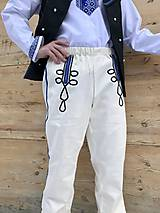 Oblečenie - Pánske krojové nohavice v smotanovej 3 (Skladom veľkosť  L) - 11639488_