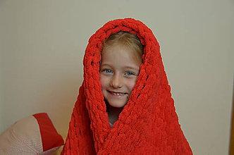 Úžitkový textil - Puffy MAXI deka Červená - 11639870_