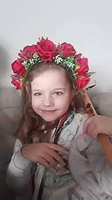 "Ozdoby do vlasov - Čelenka do vlasov ""Horúce maliny"" - 11639919_"