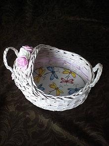 Košíky - Postieľka pre bábiku veľkú 15 cm - 11637603_