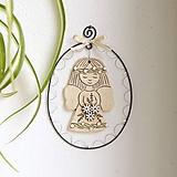 Dekorácie - jarná dekorácia - anjelik - 11640768_