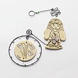 Dekorácie - jarná dekorácia - anjelik+snežienky - 11640853_