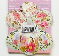 Pomôcky/Nástroje - Zmršťovacie košieľky na vajíčka, 10 ks  (ružičkové, romantické) - 11641085_