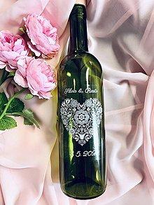 Papiernictvo - Etiketa na svadobné vínko - 11641437_