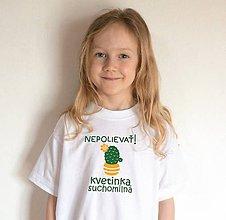 Detské oblečenie - veľkonočné tričko pre suchomilnú kvetinku - 11641025_