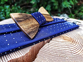 Doplnky - Pánsky drevený motýlik a traky - 11643016_