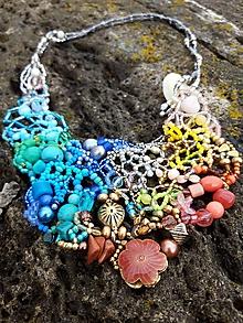 Náhrdelníky - Farebný náhrdelník II. - 11640743_