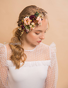 """Ozdoby do vlasov - Kvetinový hrebienok """"len tak..."""" - 11642756_"""