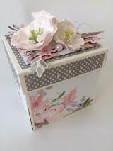 Papiernictvo - Svadobný exploding box Akvarel II - 11642850_