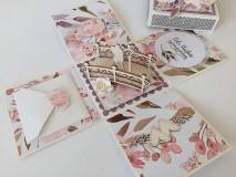 Papiernictvo - Svadobný exploding box Akvarel II - 11642854_