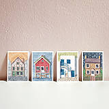 Papiernictvo - Set pohľadníc s domčekami - 11643622_
