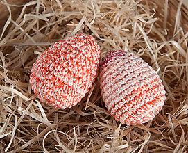 Dekorácie - Háčkované vajíčka - sada 2ks - 11643191_