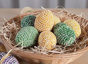 Dekorácie - Háčkované vajíčka - 11643195_