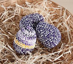 Dekorácie - Háčkované vajíčka - fialová - 11643224_