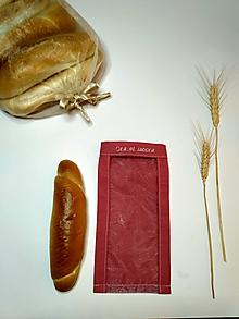Úžitkový textil - Vrecúško na chlieb a pečivo - staroružové (Vrecúško na rožtek) - 11643449_