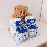 Detské doplnky - Plienková torta PAPUČKY - 11642410_