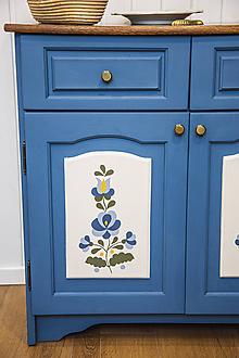 Nábytok - Komoda Vidiek v modrom - 11643868_