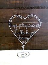 Dekorácie - srdce na želanie - 11641308_