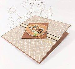 Papiernictvo - Zajačik a čokoláda - vyšívaná veľkonočná pohľadnica - 11641203_