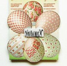 Pomôcky/Nástroje - Zmršťovacie košieľky na vajíčka, 10 ks  (romantické, ružovo-biele) - 11645646_