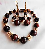 Sady šperkov - Tigrie oko- hematit - 11646682_