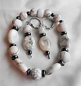 Sady šperkov - biely howlit - 11646727_
