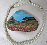 Dekorácie - Maľovaný kameň - maky - 11646808_
