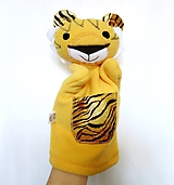 Hračky - Maňuška tigrík - 11644405_