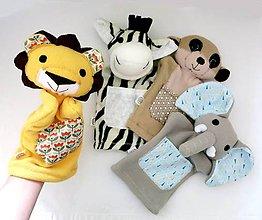 Hračky - Kamaráti z Afriky - sada maňušiek na ruku - 11647532_