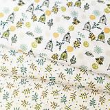 Textil - zelenkavý slávik v klietke, 100 % bavlna Francúzsko, šírka 140 cm - 11644918_
