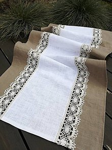 Úžitkový textil - Ľanová štóla - 11647677_