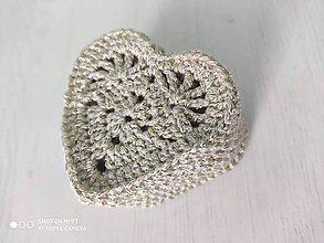 Dekorácie - Srdiečka zlaté - 11645031_